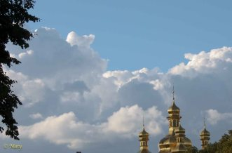 Pecherska Lavra Monastery and amazing Ukrainian sky