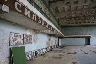 gym in city of Pripyat