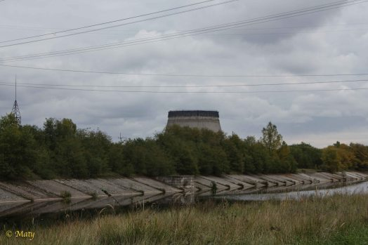 unfinished cooling tower in the Chernobyl Nuclear Plant